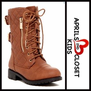 Top Guy Other - ❗️1-HOUR SALE❗BOOTS Moto Quilted Lace Up Boots