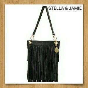 Stella & Jamie Handbags - EUC Stella & Jamie Black Fringe Bag