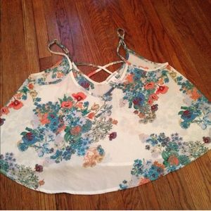 Ambiance Apparel Tops - NWOT Floral tank top!