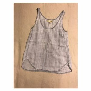 Anthropologie Cloth & Stone  Chambray Tank