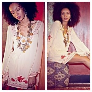 SALE! FREE PEOPLE Embroidered Dress