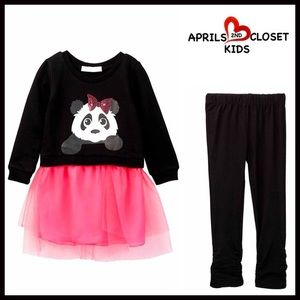 Boutique Other - Panda Tutu TUNIC Dress & LEGGINGS