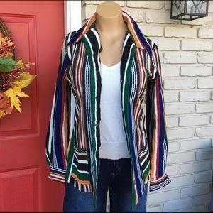 Vintage 70's striped multicolor blazer