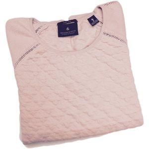 Madison Scotch Miami Deco Pink Embossed Sweatshirt