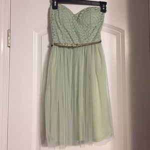 LuLu's Strapless Mini Dress