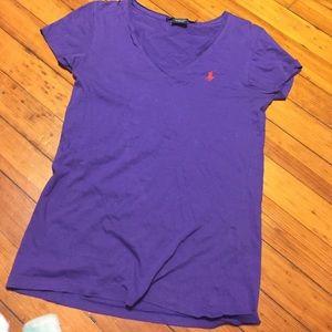 Ralph Lauren Tops - Purple RL v neck