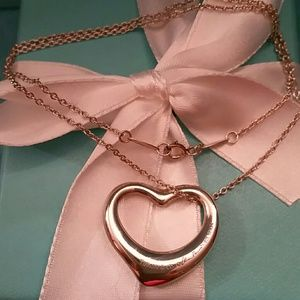 Tiffany & Co. Jewelry - Tiffany& Co.Large Open Heart Elsa Peretti Necklace