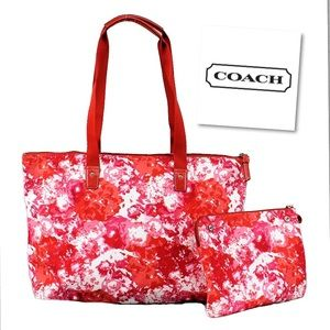 Coach Signature Weekender Tote Set NWT