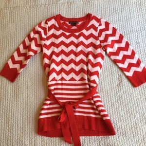 Takara Other - Red chevron sweater dress