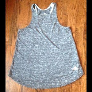 Adidas Tops - Adidas Grey High Neck Tank Top