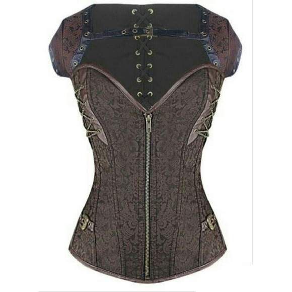 Dirty Girly Intimates & Sleepwear - Jacquard Overbust Corset