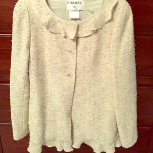 Chanel tweed jacket 40