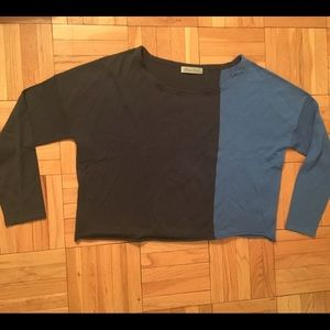 Geren Ford Sweaters - Cute cropped color block sweater