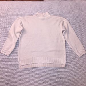 Forever 21 Cream Cable Knit Turtleneck Sweater S
