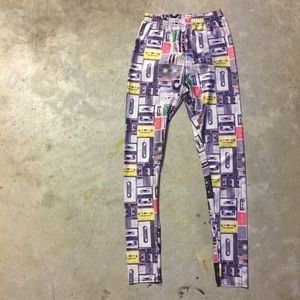 Pants - Cassette Tape Leggings
