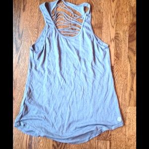 Tops - ✨TODAY ONLY✨Grey Cutout Yoga Tank