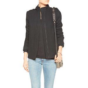 SALE! ❤ VINCE Grey Wool-Blend Trapeze Jacket