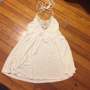 Forever 21 Tops - White halter embroidered top