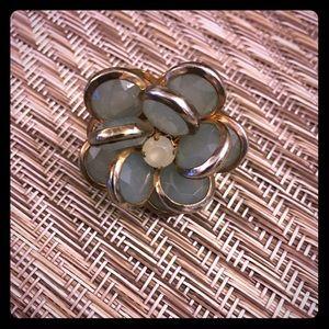 Jewelry - Large Jade Flower Ring