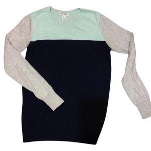 Mint color block sweater