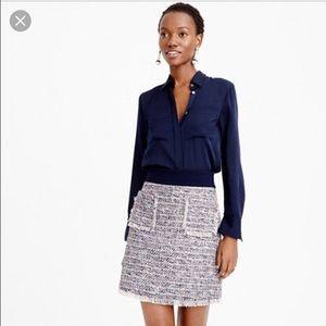 J.Crew multicolor tweed skirt size 2