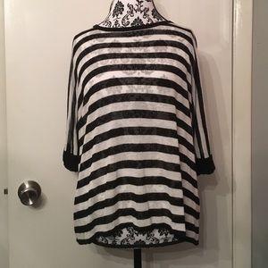 Autumn Cashmere Tops - Autumn cashmere striped dolman top