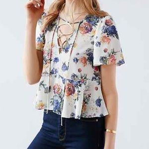 Urban outfitters floral top