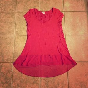 Charming Charlie Tops - Red Hi-Lo Top