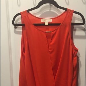 Michael Kors twist sleeveless blouse
