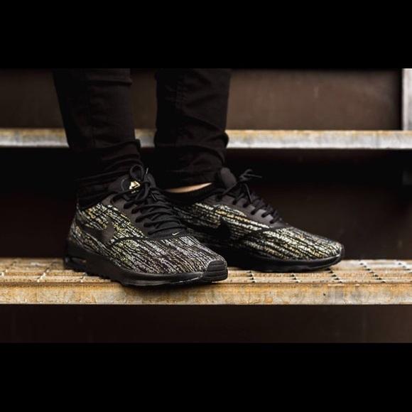 Nike Shoes - RARE Nike Air Max Thea jacquard black and gold