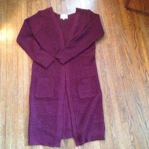 Ambiance Apparel Sweaters - Long maroon cardigan!