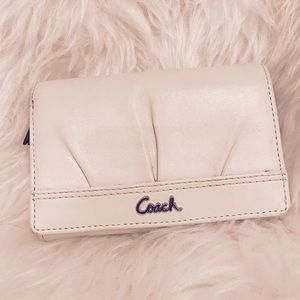 Coach Handbags - COACH White/Cream Leather Wallet