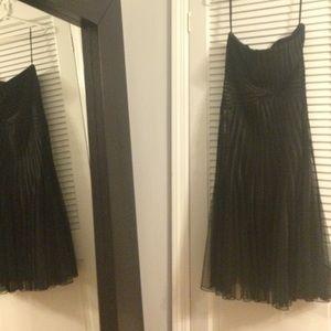 White House Black Market Strapless Black. Size 8.