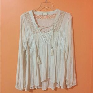 Altar'd State Lively Lace Top