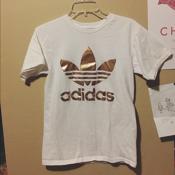 2ac022d594ae5 Adidas Tops | Originals Rose Gold Tee Urban Outfitters | Poshmark