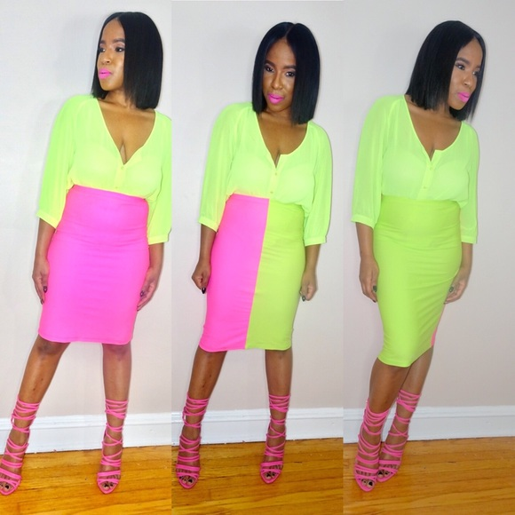 Dresses & Skirts - 3N1 Colorful Pencil Skirt