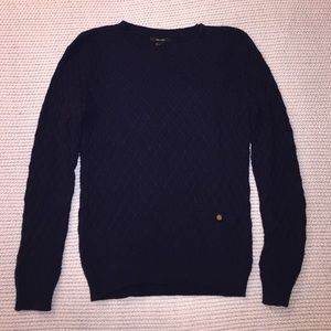 Forever 21 Navy Cable Knit Sweater S