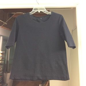 COS sweater shirt in navy blue