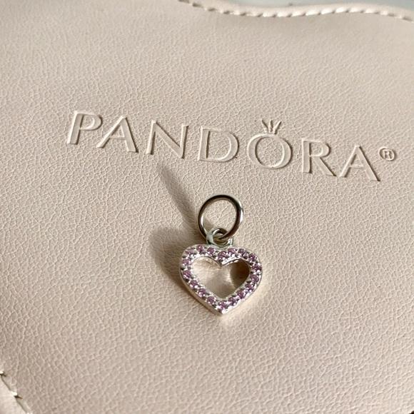 pandora be my valentine pink charm