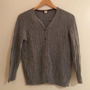 J. Crew wool cardigan sweater