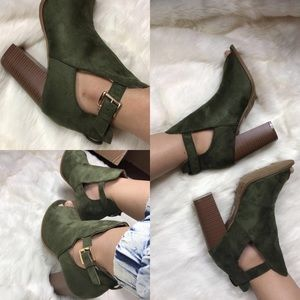 Shoes - ‼️1 HR SALE‼️Green Booties 🤑🤑🤑