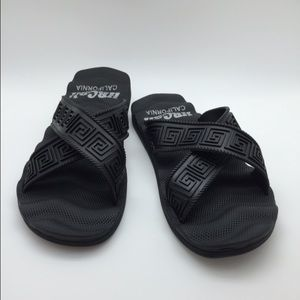 hbcali Other - New black gladiator slide sandals with wave sole