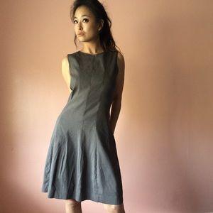 Theory Dresses & Skirts - Theory Chocolate Linen Midi Dress