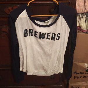Brewers Victoria's Secret PINK  Long sleeve Tshirt