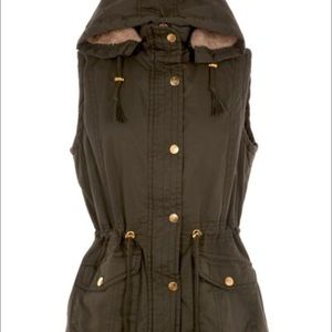 Olive Green Fur Hooded Jacket On Poshmark