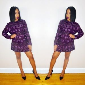 Dresses & Skirts - Vintage Violet Sequins Dress