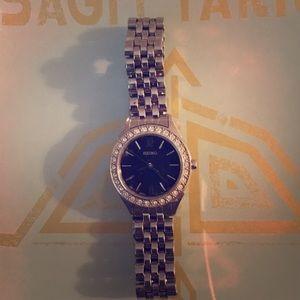 Seiko Accessories - Seiko Silver Slim Watch with Black Face