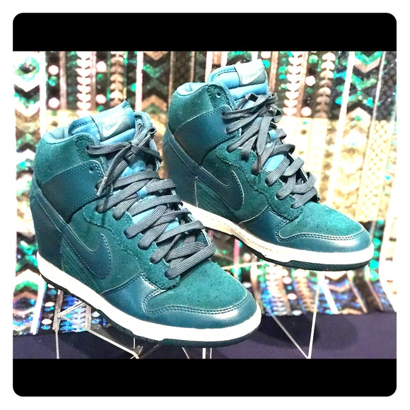 0a5e50396efc Nike Shoes - NIKE DUNK SKY HI HIGH-TOP GREEN NIKE WEDGES