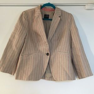 The Limited Jackets & Blazers - Limited Tam and Coral Striped Blazer