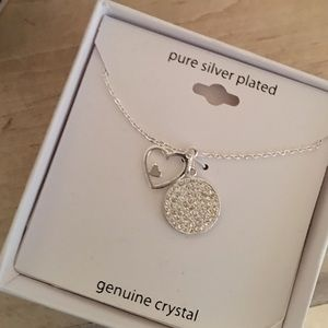Silver plated necklace with Heart